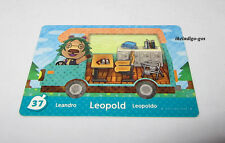 Amiibo card 37 Leopold Animal Crossing for Nintendo 3DS system