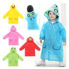 Raincoat Children Boy Girl Cartoon Hooded Hoodie Coat Rain Waterproof Jacket Hot
