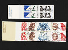 X2 1969 Sweden Booklet Sc#824a & 830a Complete Used With Fdc Cancels