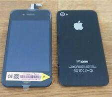 Remplacez IPHONE 4S NOIR écran LCD qaulity OEM Numériseur + couverture arrière + bouton
