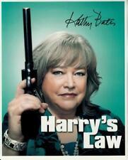 KATHY BATES hand-signed HARRY'S LAW 8x10 lifetime coa FANTASTIC CLOSEUP W/ GUN