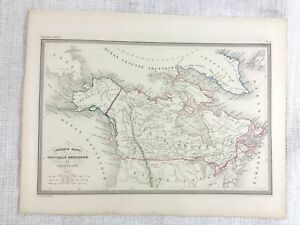 1846 Antique Map of New Britain Canada Canadian Province Hand Coloured Engraving