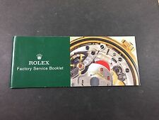 Vintage 1990's Genuine Rolex Service Booklet USA