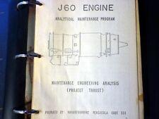 Pratt & Whitney JT12 aka J60 Engine Analytical Maintenance Program Manual