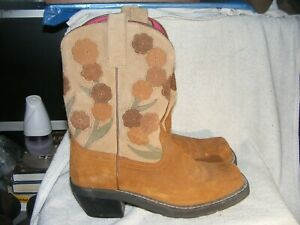 Women's Genuine Leather Cowboy Boots by Ariat -Worn a Couple of Times- Sz 9 B