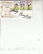 Multi Firmado Primer Día Cubierta. Fotball Salón de la Fama Mathews/Wright/Charlton. B