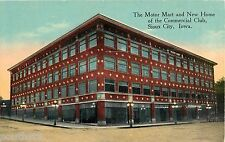 c1910 Motor Mart and Commercial Club, Sioux City, Iowa Postcard