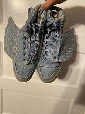 ADIDAS JEREMY SCOTT JS Wings Blue Denim  V24621 Size 11
