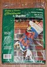 "Stocking Kit Over the Rooftop Bucilla 18"" Christmas Felt Santa Reindeer 32264"