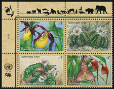United Nations - Vienna 199a TL Block MNH Flowers, Orchids