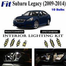 10 Bulbs Xenon White LED Interior Light Kit Package For Subaru Legacy 2009-2014