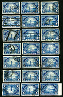 US Stamps # 616 VF Clean Used Lot of 20 Scott Value $260.00