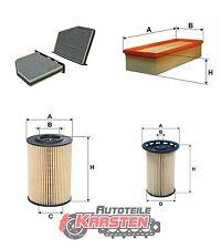 Set L: Kraftstofffilter+Innenraumfilter+Luftfilter+Ölfilter Filtersatz AUDI SEAT