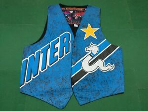 F.C.INTER  - Rare  Vintage GILET Calcio Football, Tg.Large  - Made in Italy