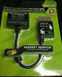 NEW Mad Catz Headset Adapter Xbox 360 HDMI Cable Sound All Headsets