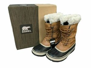 SOREL LADIES WINTER CARNIVAL SNOW BOOTS CARAMEL BROWN MANY SIZES RRP £115 C