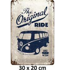 VW Kombi, The Original Ride 30 x 20 cm 3D Embossed Tin Sign - Licensed Germany