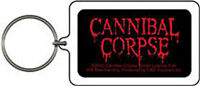 CANNIBAL CORPSE KEYCHAIN Logo in Red NEW OFFICIAL MERCHANDISE Key Chain
