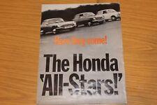 Honda N360 N600 y S800 carpeta de ventas de gran formato década de 1960