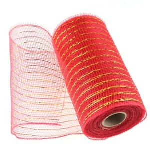 1/4PCS Deco Mesh Rolls 15cm x 10yd Roll 4 colour Available for Wreaths Swags Bow