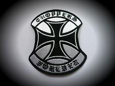Chopper Forever,Iron Cross,Patch,Skull,Badge,Biker,Kutte,Aufbügler,Eiserne Kreuz