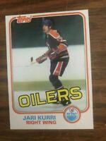 1981-82 Topps  #18 Jari Kurri  Edmonton Oilers Rookie NrMt