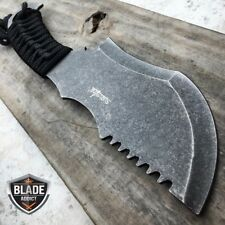"""10.5"""" STONEWASH TACTICAL SURVIVAL FULL TANG FIXED BLADE KNIFE HUNTING CLEAVER"""