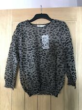 Zara Leopard Print Top Size Large New With Tags