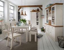 STEENS Massivholz Speisezimmer MONACO Esszimmer Landhausstil White-Wash Provence