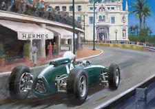 Art Card 1962 Monaco Grand Prix winner Bruce McLaren (NZL) Toon Nagtegaal OE