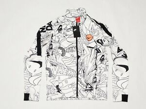 New Men's Nike Sportswear Jacket Have A Nice Day Black White AQ0579-100 Sz Small