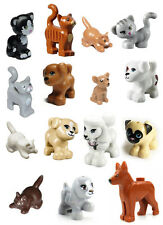 LEGO 15 pcs FRIENDS CAT DOG LOT Kitten Puppy Pet Animal Minifig Figure boy girl