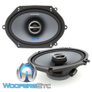 "ALPINE SPS-517 CAR 5""x7"" 6""x8"" 2-WAY COAXIAL LOUD SPEAKERS BUILT IN TWEETERS NEW"