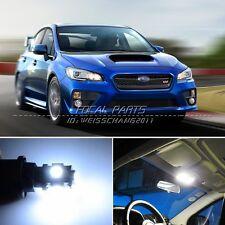 8 x Xenon White LED Lights Interior Package Kit For Subaru WRX STi K176