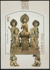 China 2013-14 Gold Bronze Buddha Statues stamp sheet MNH