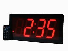 "LARGE 4"" LED Alarm Clock With Full Function Remote Control Date and Temperature"