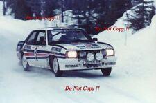Walter Rohrl Opel Ascona 400 Swedish Rally 1982 Photograph 4