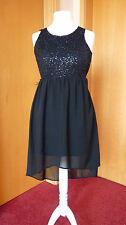 Vero Moda Kleid Festkleid Sommerkleid Partykleid schwarz mit Pailletten Gr. 34