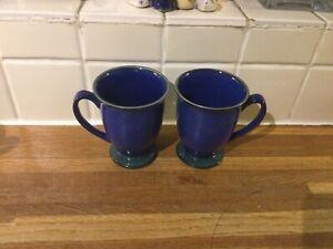 Denby - Metz - Footed Mugs X2.