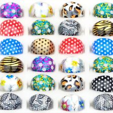 50Pcs Ring Wholesale Mixed Cute Cartoon Children/Kids Resin Lucite Rings Jewelry