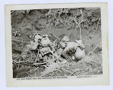 snapshot 4x5 inch photo of two Japanese soldiers dead on Iwo Jima beach