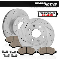 FRONT KIT DRILLED AND SLOTTED BRAKE ROTORS & CERAMIC PADS Acura CL Honda Accord