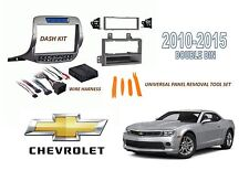 Chevrolet Camaro 2010-2015 2 DIN CAR STEREO INSTALL DASH KIT w/ WIRE HARNESS