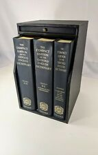 Oxford English Dictionary w/ Suppt: 3 vol. & magnifier in slipcase (1987)