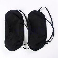 2pcs Travel Sleep Rest Sleeping Aid Mask Eye Shade Cover Comfort Blindfold WS