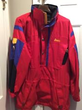 "NORDICA SPORTSYSTEM Men's Ski Snowboard Pullover Jacket Coat Red Hood ""Sz Large"""