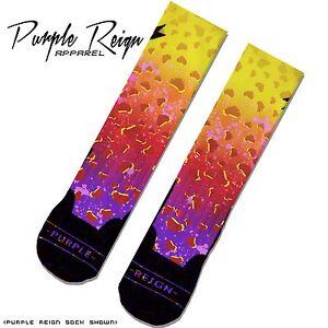 "NIKE AIR FOAMPOSITE PRO ONE ""ASTEROID"" AREA 72 Custom Premium Socks"