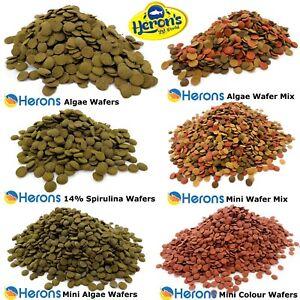 HERONS Premium Algae Wafers, Wafer Mix, Spirulina Wafers etc. LOACH PLECO FOOD