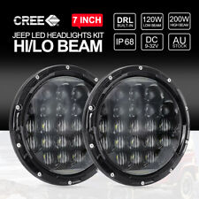 2x 7inch CREE LED Headlights Hi-Lo High Low DRL For Jeep Wrangler TJ JK 97-17
