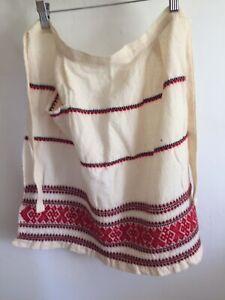 Vintage Embroidered Folk Apron Small